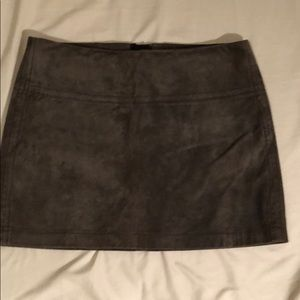 100% Leather mini skirt